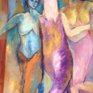 3 gratiën | olie op doek | 160 x 140 cm