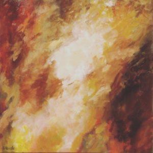 Avondlicht | olie op doek | 100 x 100 cm | Verkocht
