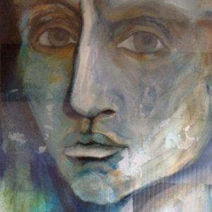 David | olie op papier | 70 x 100 cm