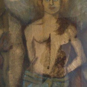 Engel | gemengde techniek op papier | 70x 90 cm
