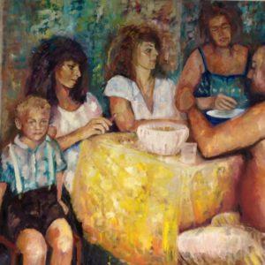 La famiglia | olie op doek | 120 x 100 cm