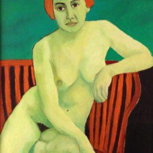 Green Lady 1 | olie op doek | 120 x 100 cm