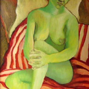 Green lady 2 | olie op doek | 120 x 100 cm