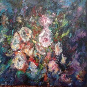 Il Giardino Barocco | olie op doek | 100 x 100 cm