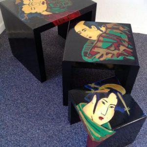Japanse tafeltjes | olie op hout