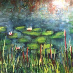 Lelies 2 | 120x100 cm | olie op doek