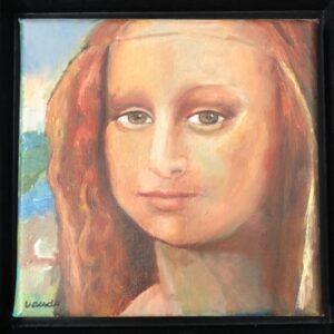 Lisa  | olieverf | 20x20 cm