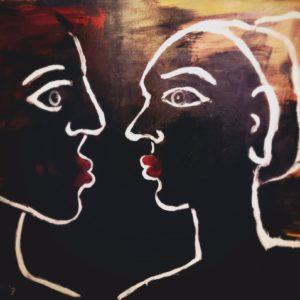 Lovers | 100x 80 cm | acryl