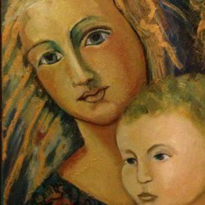 Madonna Toscane | olie op doek | 40 x 50 cm