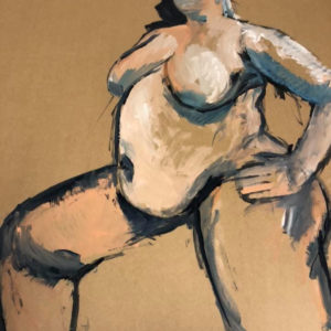 Merel  | acryl op karton | 120 x 80 cm