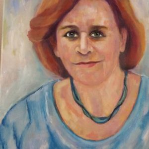 Portret Barline | olie op doek | 40 x 30 cm