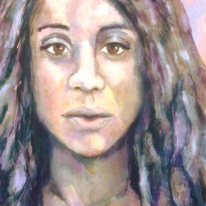 Portret Sade | acryl op doek | 40 x 30 cm