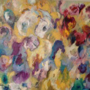 Septembertuin | olie op doek | 120 x 100 cm
