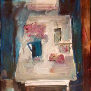 Stilleven met tafel | acryl op doek | 40 x 30 cm