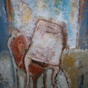 Stoel | olie op doek | 40 x 50 cm