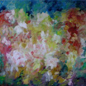 Tuin | olie op doek | 80 x 100 cm | Verkocht