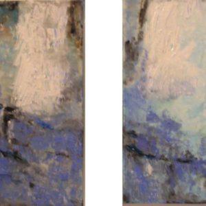 Winter tweeluik | olie op doek | verkocht