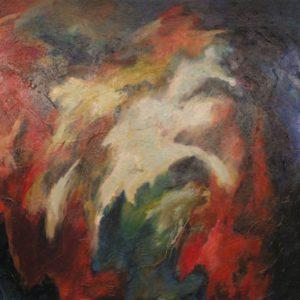 Zomernacht | olie op doek | 100 x 100 cm | Verkocht